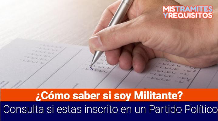 ¿Cómo saber si soy Militante? Consulta si estas inscrito en un Partido Político