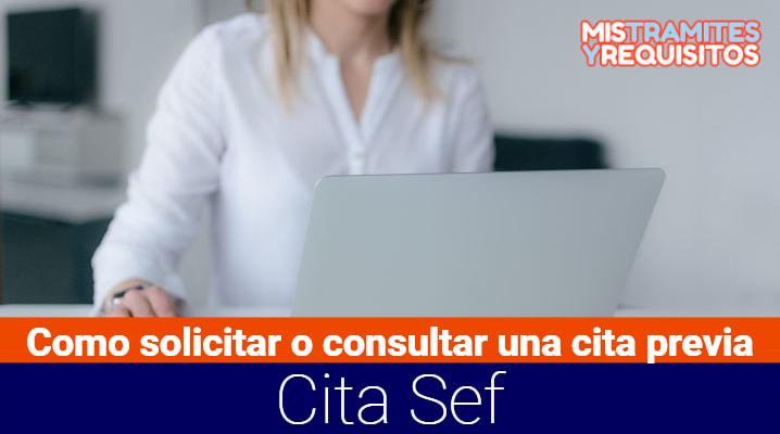 Cita Sef- Como solicitar o consultar una cita previa