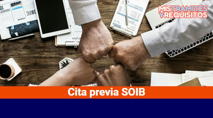 Solicitar Cita previa SOIB por Teléfono e Internet