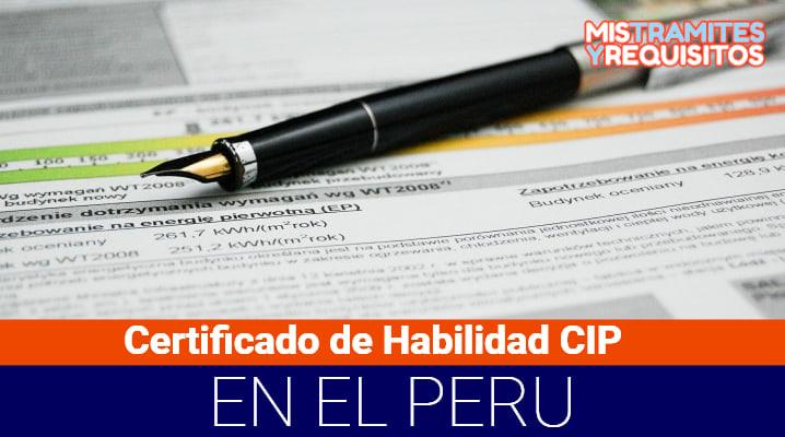 Certificado de Habilidad CIP
