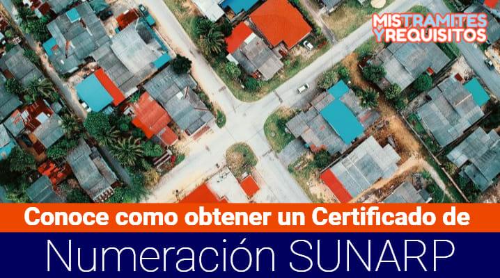 Certificado de Numeración SUNARP