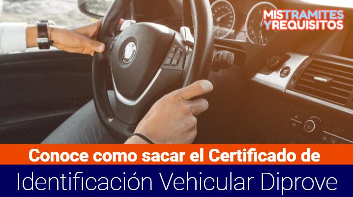Certificado de Identificación Vehicular Diprove