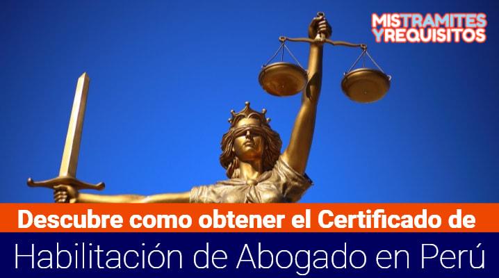 Certificado de Habilitación de Abogado