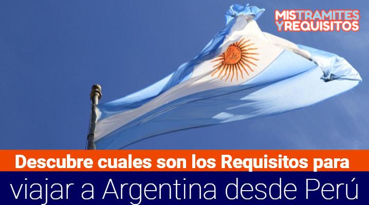 Requisitos para viajar a Argentina