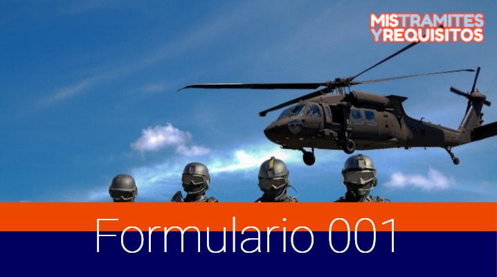 AQUÍ podrás descargar el Formulario 001 para Libreta Militar