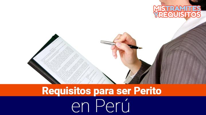 Requisitos para ser Perito Perú
