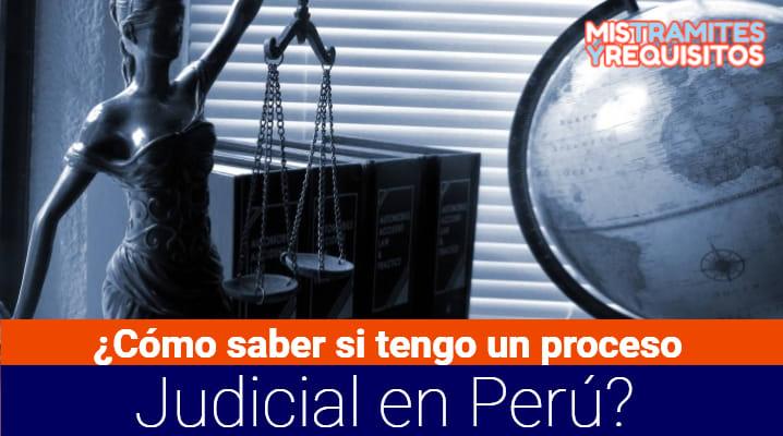 ¿Cómo saber si tengo un proceso Judicial en Perú?