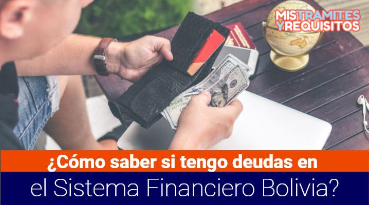 ¿Cómo saber si tengo deudas en el Sistema Financiero Bolivia?