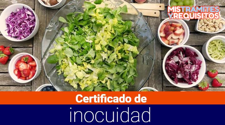 Obtén el Certificado de Inocuidad Alimentaria