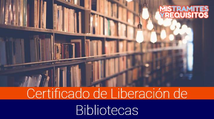 Certificado de Liberación de Bibliotecas