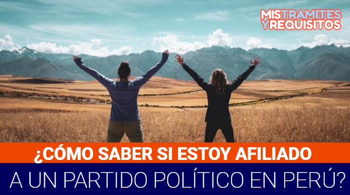 Como saber si estoy afiliado a un partido político Perú