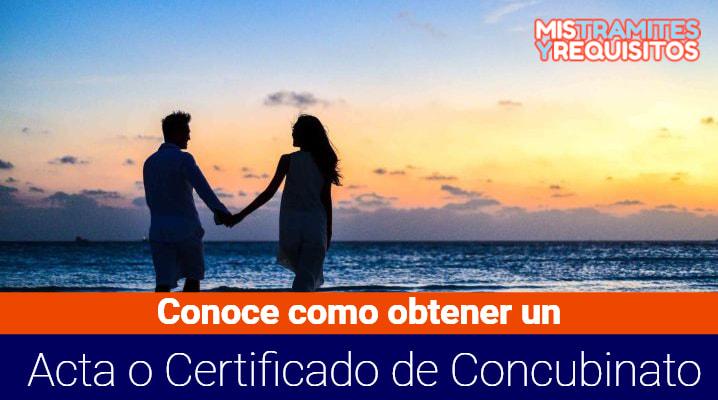 Certificado de Concubinato
