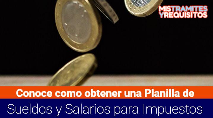 Planilla de Sueldos y Salarios