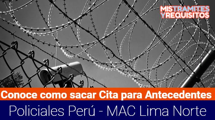 Cita para Antecedentes Policiales Perú