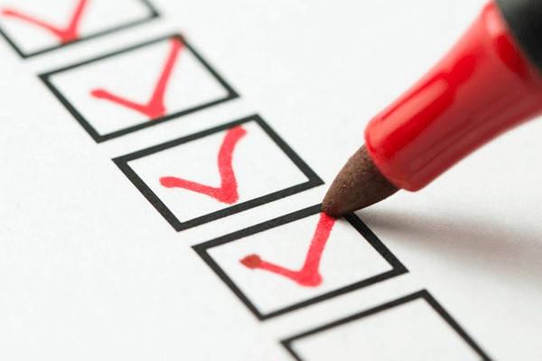 Formulario 1494 checklist