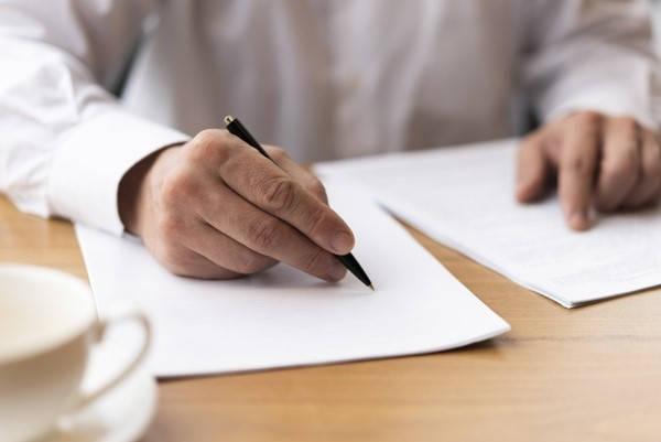 Formulario 1494 firmando