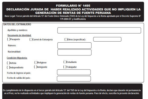 Formulario 1495 formulario
