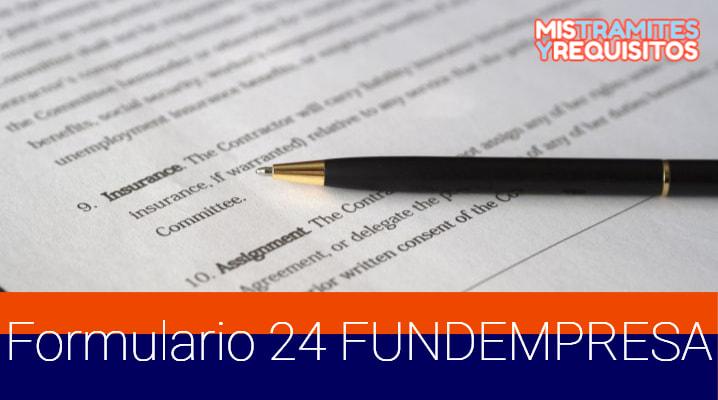 Obtén el Formulario 24 FUNDEMPRESA Bolivia