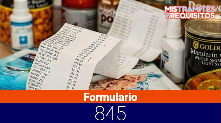 Formulario 845