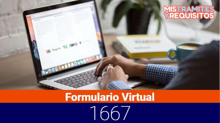 Conoce como presentar el Formulario Virtual 1667 de SUNAT