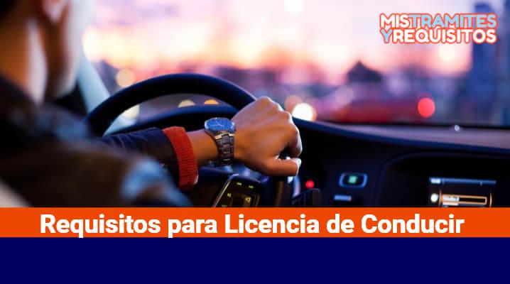 Requisitos para Licencia de Conducir