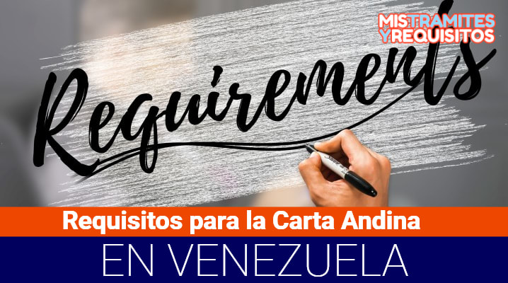 Requisitos para la Carta Andina