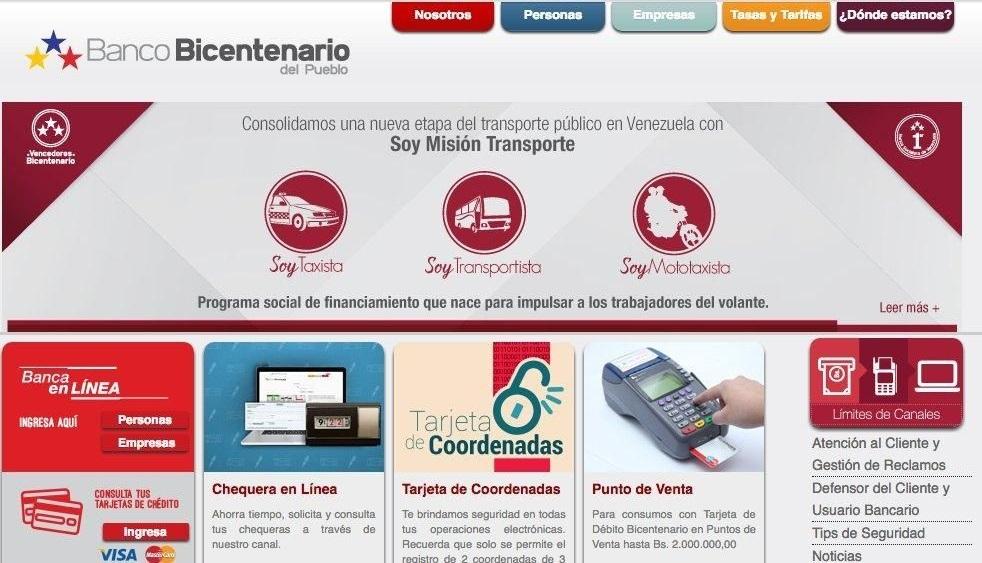 Banco Bicentenario en linea del pueblo pago movil wwwbanco