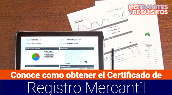 Certificado de Registro Mercantil