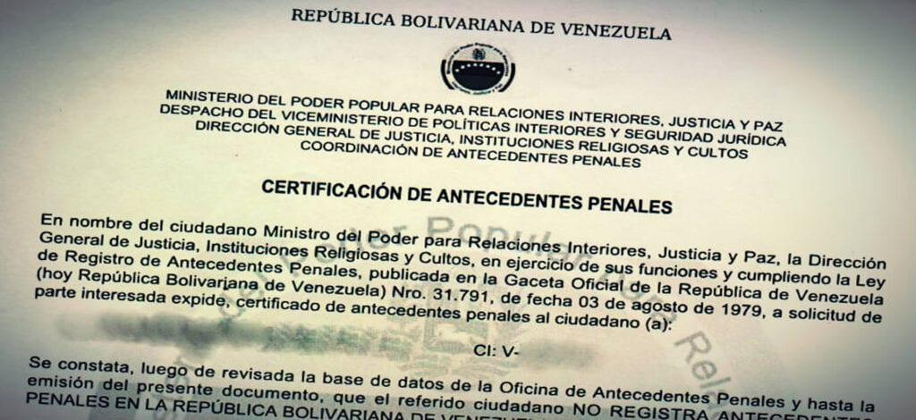Requisitos para los antecedentes penales