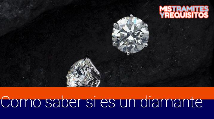 Como saber si es un diamante
