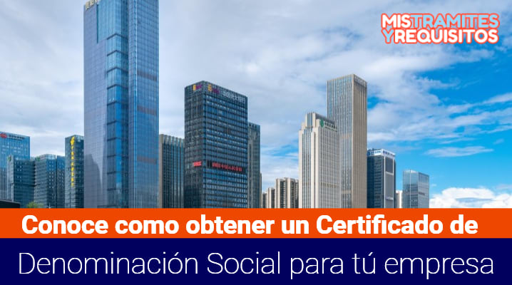 Certificado de Denominación Social