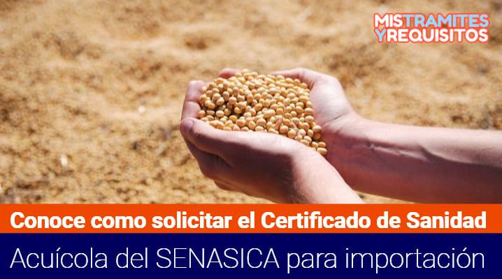 Certificado de Sanidad Acuícola del SENASICA