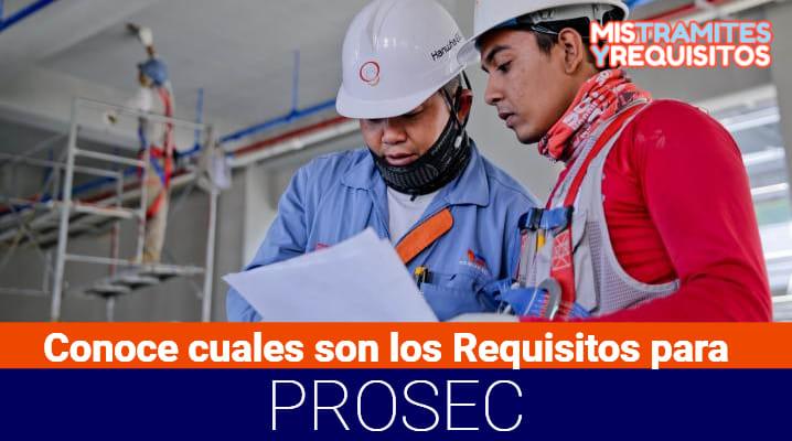 Requisitos para PROSEC