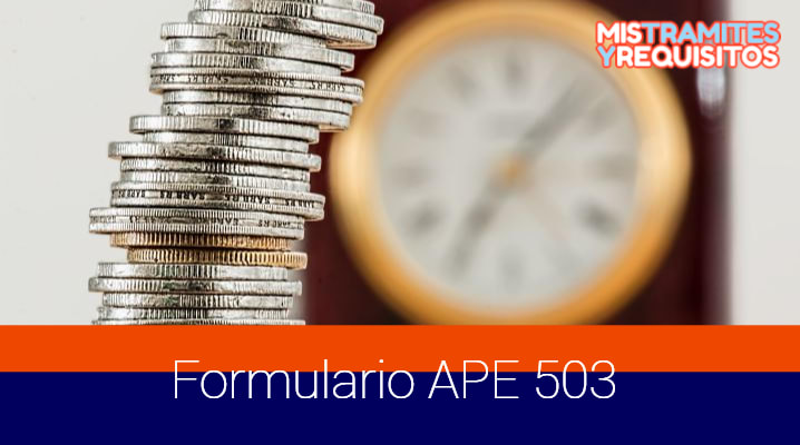 Formulario APE 503: Solicitud de Cl@venet Empresarial