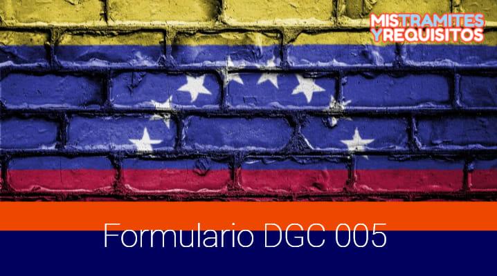 Como llenar el Formulario DGC 005 para Solicitud de Visa Humanitaria