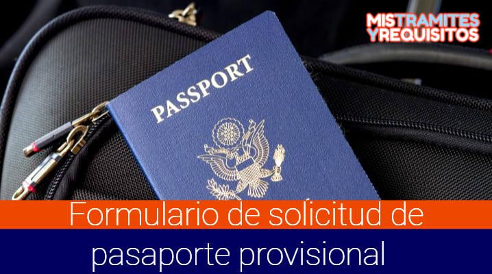 Formulario de Solicitud de Pasaporte Provisional – SAIME