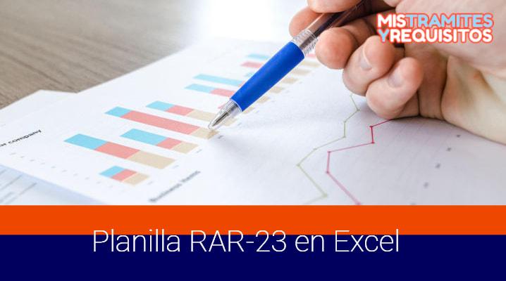 Planilla RAR-23 en Excel