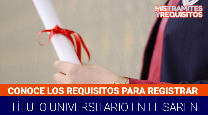Requisitos para Registrar Título Universitario