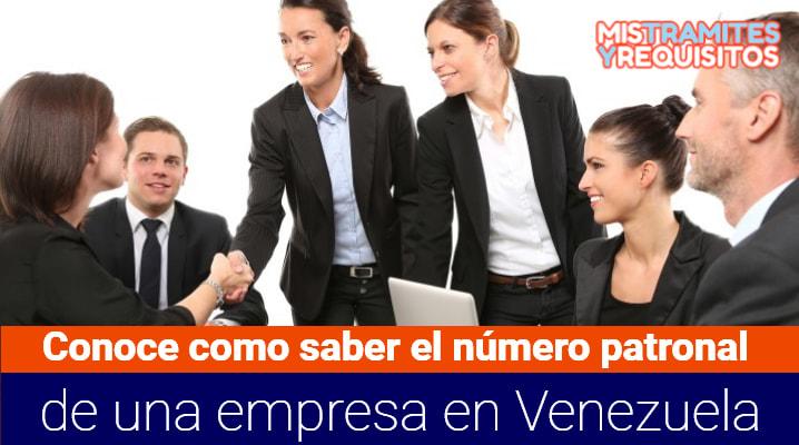 Como saber el número patronal de una empresa en Venezuela