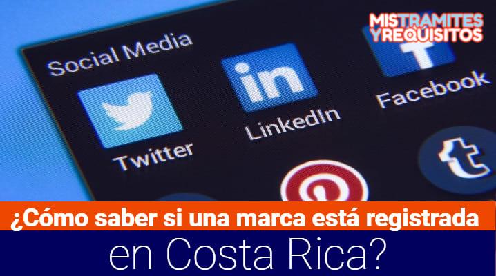 ¿Cómo saber si una marca está registrada en Costa Rica?