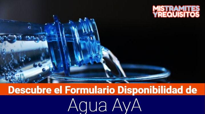 Descubre el Formulario Disponibilidad de Agua AyA