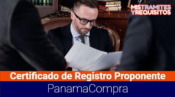 Conoce como solicitar el Certificado de Registro de Proponente PanamaCompra