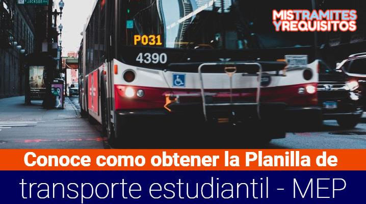 Planilla de transporte estudiantil