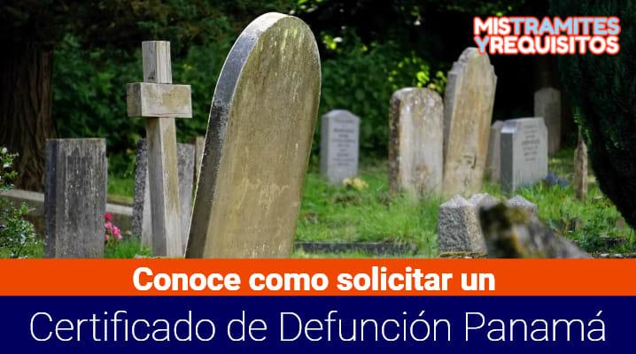 Certificado de Defunción Panamá