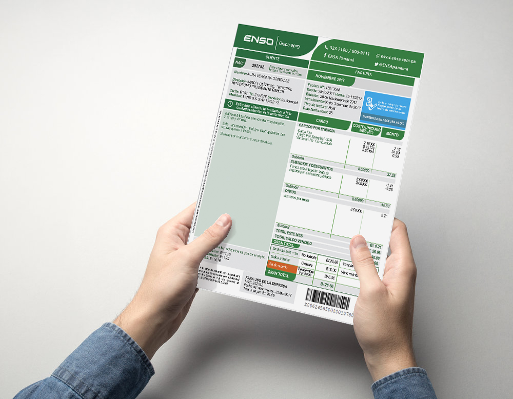 Requisitos para contrato de luz ENSA