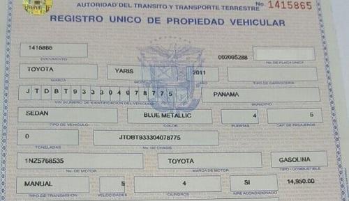 Como saber quién es el dueño de un auto en Panamá