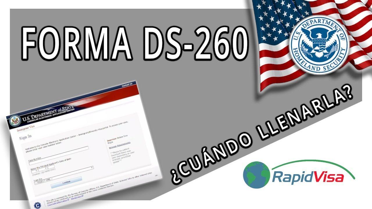 DS-260 REGISTRO VISA DE INMIGRANTE - YouTube