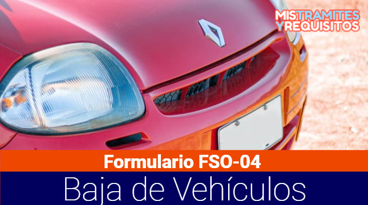 Obtén el Formulario FSO-04 Baja de Vehículos ANT