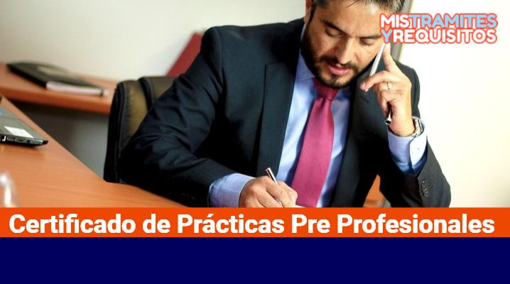 Certificado de Prácticas Pre Profesionales