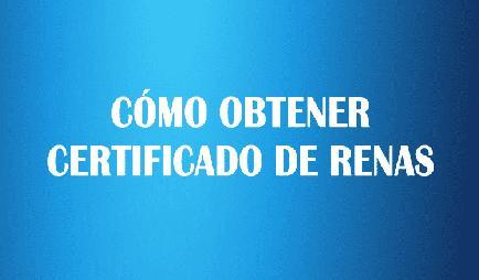 Certificado de RENAS